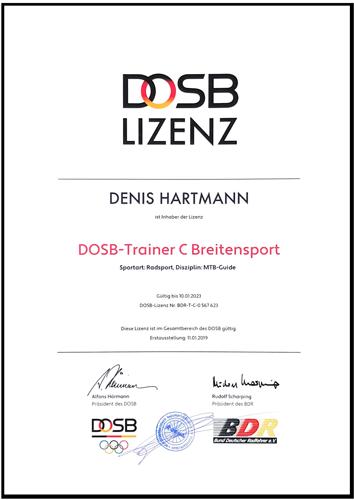 DOSB Lizenz Denis Hartmann